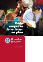 Folleto de 12 páginas Listo Negocios - Ready.gov