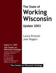 Download PDF Document - Center on Wisconsin Strategy