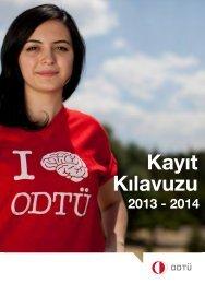 ODTÜ'yü Yeni Kazanan Öğrenciler için Kayıt Kılavuzu - Öğrenci İşleri
