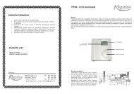 TP39 - LCD termostat - Regulus