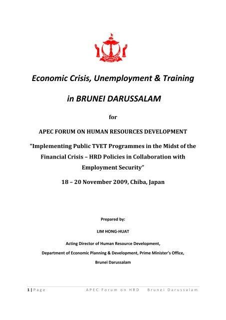 Economic Crisis, Unemployment & Training in Brunei Darussalam