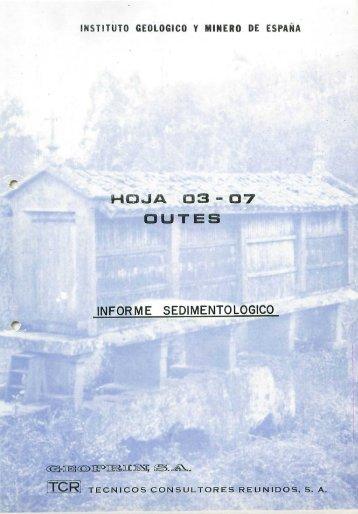 HOJA 0 3 s 07 CUTES INFORME SEDIMENTOLOGICO I-Í