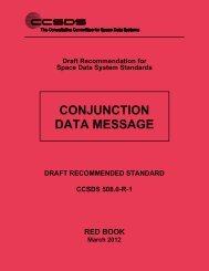 CCSDS 508.0-R-1, Conjunction Data Message (Red Book, Issue 1 ...