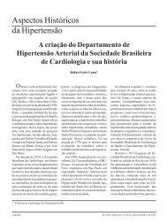 Aspectos Históricos da Hipertensão - Departamentos Científicos ...