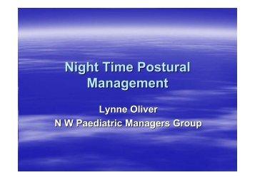 Night Time Postural Management