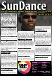 The first bit you already know. Carl Baratand The ... - The Ibiza Sun