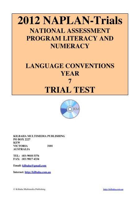 naplan language conventions