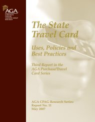 The State Travel Card - Uses, Policies and Best Practices - AGA