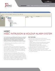 HISEC HISEC INTRUSION & HOLDUP ALARM SYSTEM - AMAG