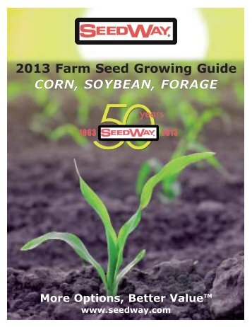 2013 Corn, Soybean, & Forage Presenter - Seedway