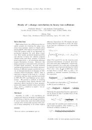 Study of γ-charge correlation in heavy ion collisions - Sympnp.org