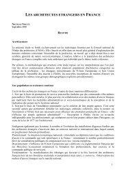 Les architectes etrangers en France, étude complète ... - Ramau
