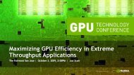 Maximizing GPU Efficiency in Extreme Throughput Applications