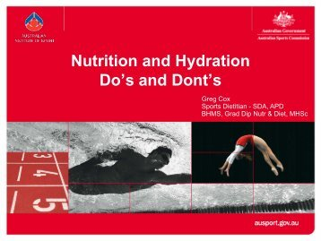 Physical preparation for Officials – Nutrition and Hydration