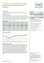 MONTHLY INCOME BOND FUND - Insight Investment