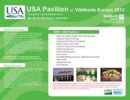 USA Pavilion at Vitafoods Europe 2012 Europe 201 - B-FOR ...