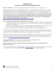 Equipment List Yellowstone Club Leadership Expeditions ... - NOLS