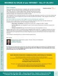 MAXIMIZE the VALUE of your INTRANET - Nov. 27-30, 2012 - Page 3