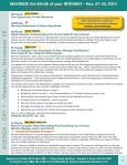 MAXIMIZE the VALUE of your INTRANET - Nov. 27-30, 2012 - Page 6