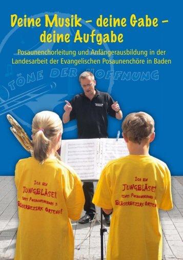 Jahresprogramm 2012 - Badische Posaunenarbeit