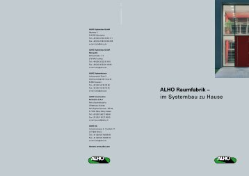 ALHO Raumfabrik – im Systembau zu Hause - Alho Systembau GmbH