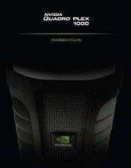 NVIDIA Quadro Plex 1000 Installation Guide