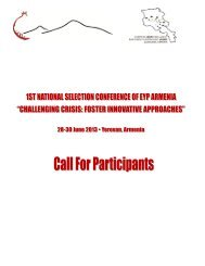 Information Package of the 1st NSC by EYP Armenia