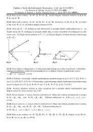 Zadania z fizyki dla Informatyki, I rok - Fatcat