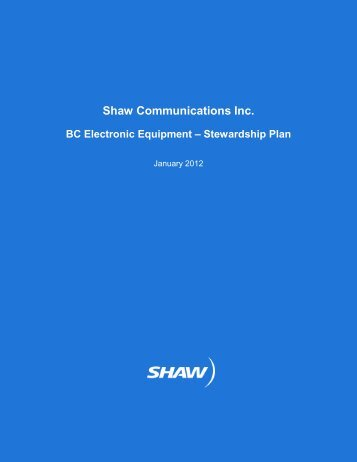 Shaw Communications Inc. - BC Electronic Equipment