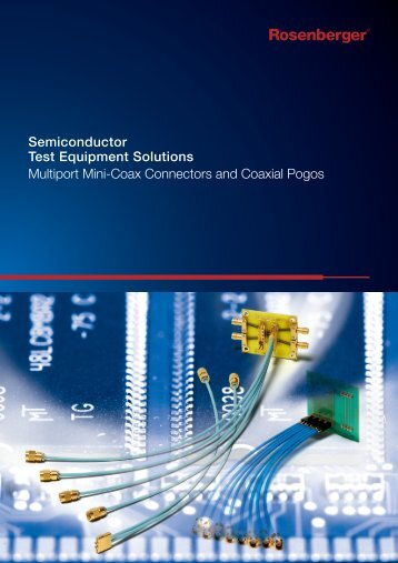 Semiconductor Test Equipment Solutions Multiport Mini-Coax ...