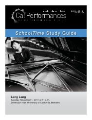 Langlang study guide 2011 12 - Cal Performances