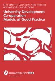 Models of Good Practice - HumanitarianNet - Universidad de Deusto