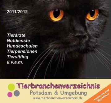 Fundtiere in Potsdam melden Sie bitte - Tierbranchenverzeichnis