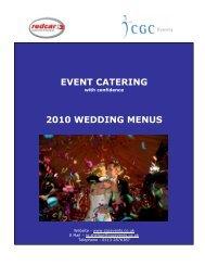 EVENT CATERING 2010 WEDDING MENUS - Redcar Racecourse
