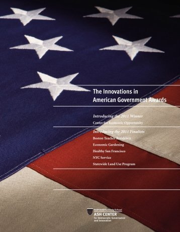 The Innovations in American Government Awards - Ash Center