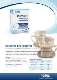 Resource Energipulver - Nestlé Nutrition
