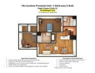 The Gardens Premium Unit –2 Bedroom/2 Bath - Department of ...