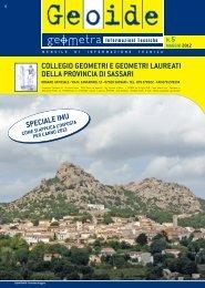maggio 2012 - Collegio dei Geometri della provincia di Sassari