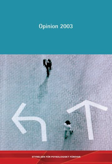 Opinion 2003 : en opinionsundersökning från Styrelsen för ...