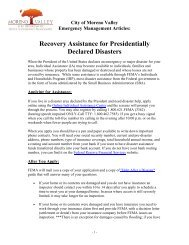 Recovery Assistance for Presidentially Declared Disasters