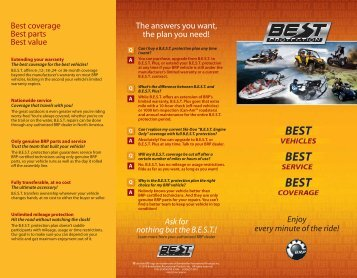 Ask for nothing but the B.E.S.T.! Enjoy every minute of the ... - Sea-Doo
