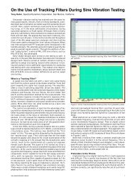 On the Use of Tracking Filters During Sine Vibration Testing