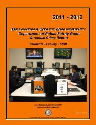 Public Safety Guide 2011-2012 - Oklahoma State University - Police ...