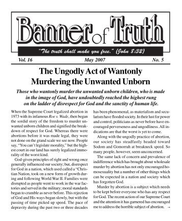 BOT Vol 16 #5 May 07.pmd - Banner of Truth Online