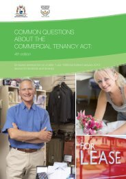 Common questions about the Commercial Tenancy Act: for leases ...