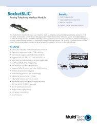 Analog Telephony Interface Module - Multi-Tech Systems
