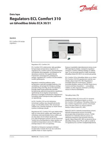 Regulators ECL Comfort 310 - Danfoss apkures portāls