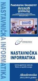 nastavnička informatika nastavnička - Panevropski univerzitet Apeiron