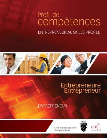 Profil entrepreneurial - Saje