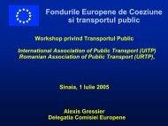 Fonduri pentru Coeziunea Europeana si transportul public - URTP